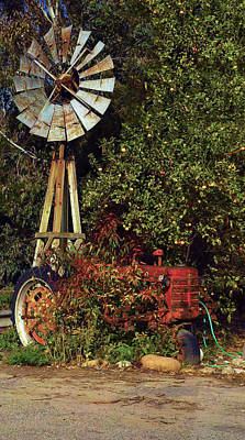 Print featuring the photograph Overgrown Tractor by Richard Stephen