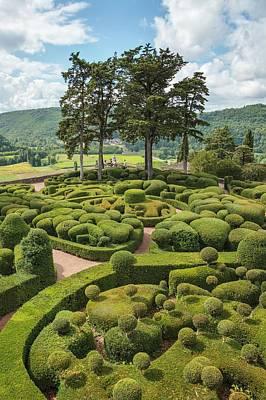 Overhang Photograph - Overhanging Gardens Of Marqueyssac by Geoff Kidd