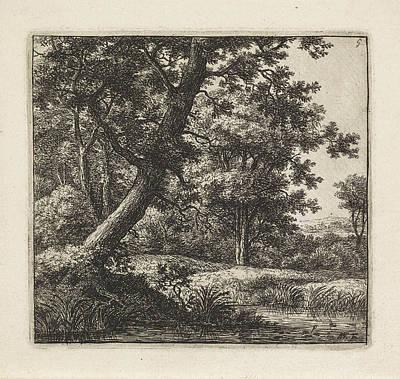 Overhanging Tree, Anthonie Waterloo Art Print
