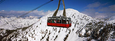 Overhead Cable Car In A Ski Resort Art Print by Panoramic Images