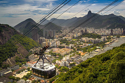 Photograph - Overhead Cable Car Over A City by Celso Diniz
