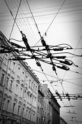 Black And White Photograph - Overhead Wires by Todd Hartzo