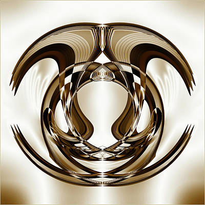 Digital Art - Overlapping Curved Shapes Creative by Raj Kamal