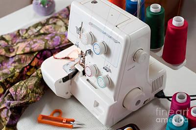 Overlock Sewing Machine Art Print by Jim Corwin