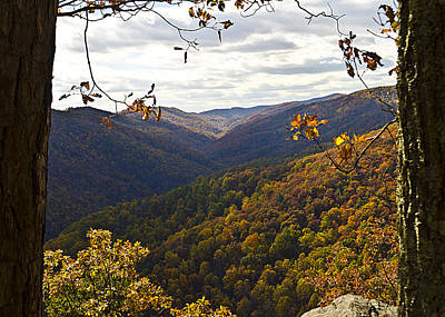 Photograph - Overlook Blue Ridge Parkway by Heather Grow