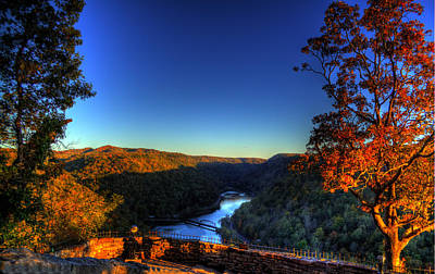 Art Print featuring the photograph Overlook In The Fall by Jonny D