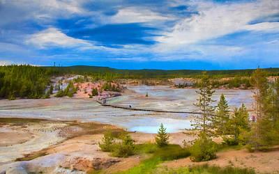Photograph - Overlook Of Norris Geyser Basin Yellowstone by John M Bailey