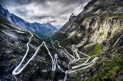 Overlook Of Trollstigen, Norway Art Print by Photo By Tse Hon Ning