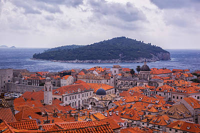 Red Roof Photograph - Overlooking Dubrovnik by Madeline Ellis