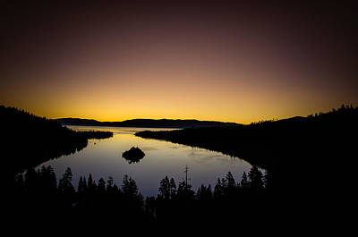 Island Lake Tahoe Photograph - Overlooking Emerald Bay At Dawnlake Tahoe by Scott McGuire