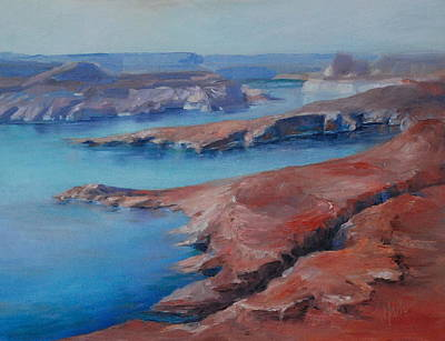 Overlooking Lake Powell Art Print by Donna Pierce-Clark