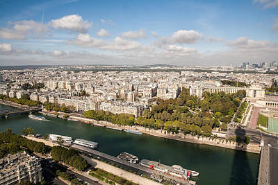 Paris Skyline Royalty-Free and Rights-Managed Images - Overlooking Paris - Seine River by Henry Inhofer