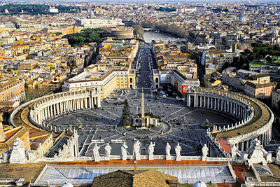 Photograph - Overlooking St Peter's Square In The Vatican by Mark E Tisdale