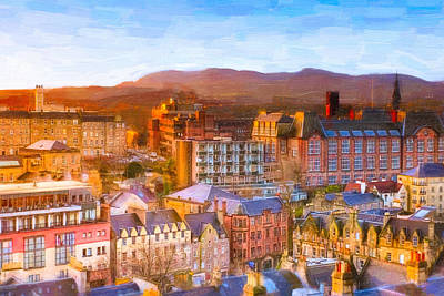 Photograph - Overlooking The Grassmarket In Beautiful Edinburgh by Mark E Tisdale