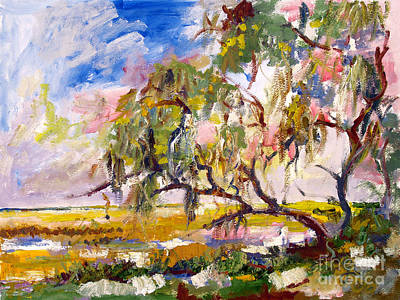 Painting - Overlooking The Marsh On Jekyll Island Georgia by Ginette Callaway