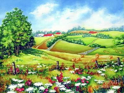 Overlooking The Meadow Art Print
