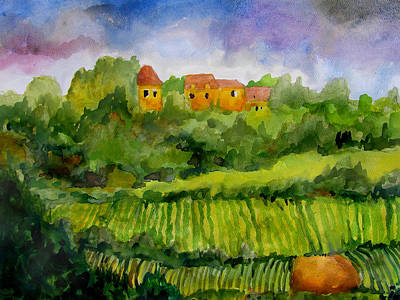 Overlooking The Vines Art Print by James Huntley