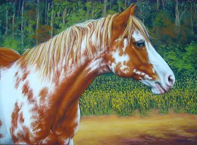 Overo Paint Horse-colorful Warrior Art Print