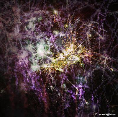 Digital Art - Overprinted Fireworks by Stwayne Keubrick