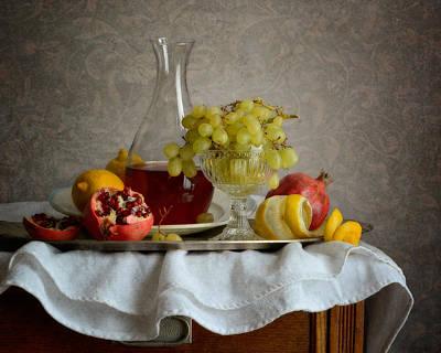 Overripe Grapes Art Print