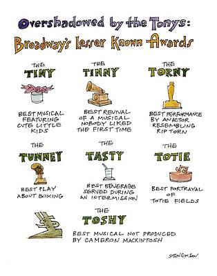 Tear Drawing - Overshadowed By The Tonys Broadway's Lesser Known by James Stevenson