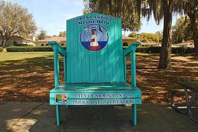 Photograph - Oversized Beach Chair by Denise Mazzocco