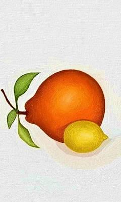 Sicily Painting - Oversized Fruit And Mini Lemon by Alice Butera