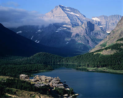 Glacier National Park Wall Art - Photograph - Overview Of A Hotel, Glacier National by Ted Wood