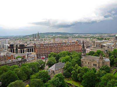 Photograph - Overview Of Edinburgh by Denise Mazzocco