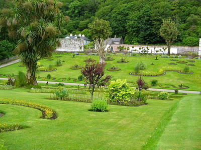 Photograph - Overview Of Kylemore Abbey Gardens by Denise Mazzocco