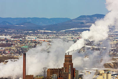 Quebec Photograph - Overview Of Quebec City, Chimney Giving by Keren Su