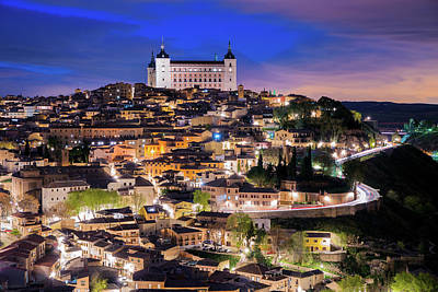 Overview Of The City Of Toledo In Spain Art Print by Daniel Viñé Garcia