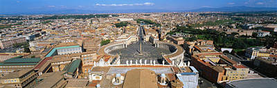 Vatican City Photograph - Overview Of The Historic Centre Of Rome by Panoramic Images