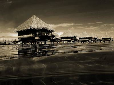 Overwater Bungalows  Art Print