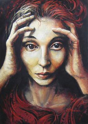 Overwhelmed Art Print by Elena Oleniuc