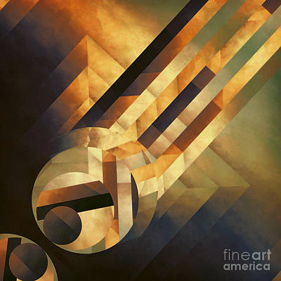 Abstract Movement Painting - Overwhelming Dimensionality by Lonnie Christopher