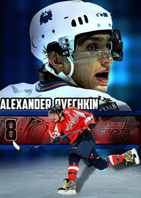 Alex Ovechkin Digital Art - OVI by Yf Jarosova