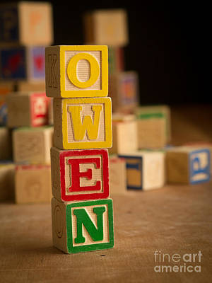 Photograph - Owen - Alphabet Blocks by Edward Fielding