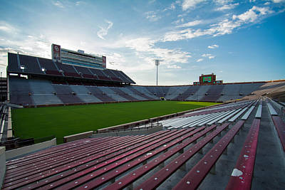 Oklahoma University Wall Art - Photograph - Owen Field  by Nathan Hillis