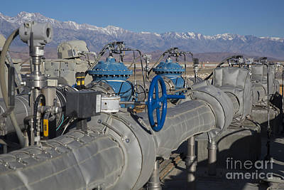 Photograph - Owens Lake Infrastructure by Jim West