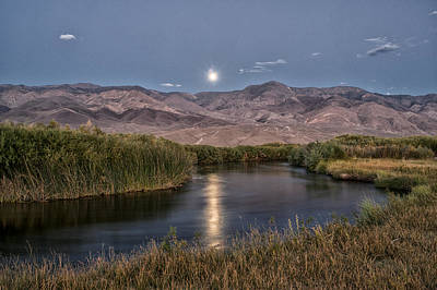 Owens River Moonrise Art Print