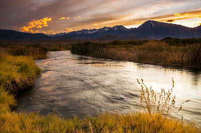 Owens River Sunset Art Print