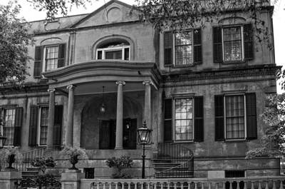 Photograph - Owens - Thomas House In Black And White by Greg and Chrystal Mimbs
