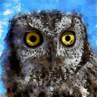 Digital Art - Owl Abstract by Ernie Echols