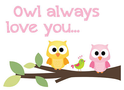 Digital Art - Owl Always Love You by Jaime Friedman