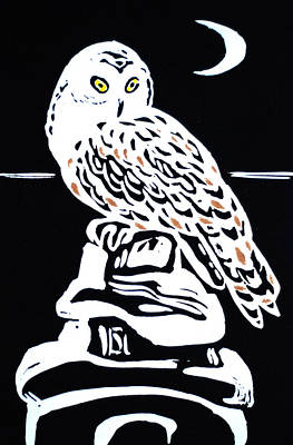 Owl And Moon Original by Vadim Vaskovsky