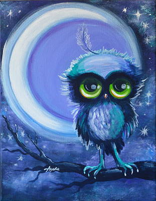 Painting - Owl Be Brave by Agata Lindquist