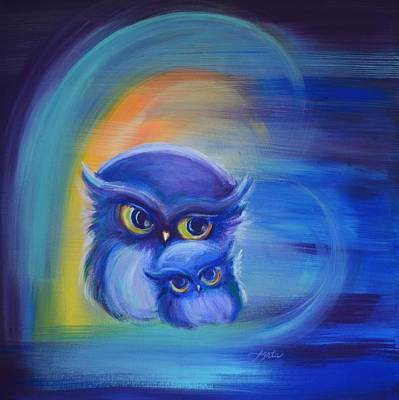 Art Print featuring the painting Owl Always Love You by Agata Lindquist