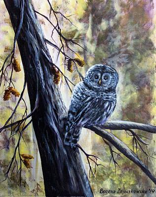 Painting - Owl by Bozena Zajaczkowska