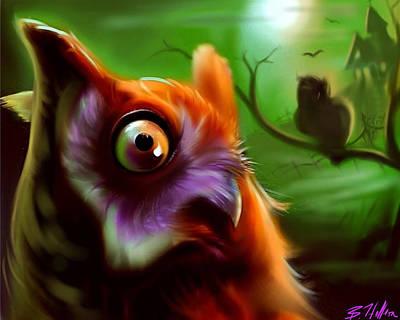 Owl Art Print by Brandon Heffron